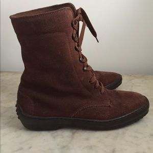 Tod's suede combat boot